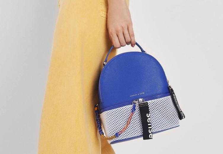 two way zip mesh detail backpack