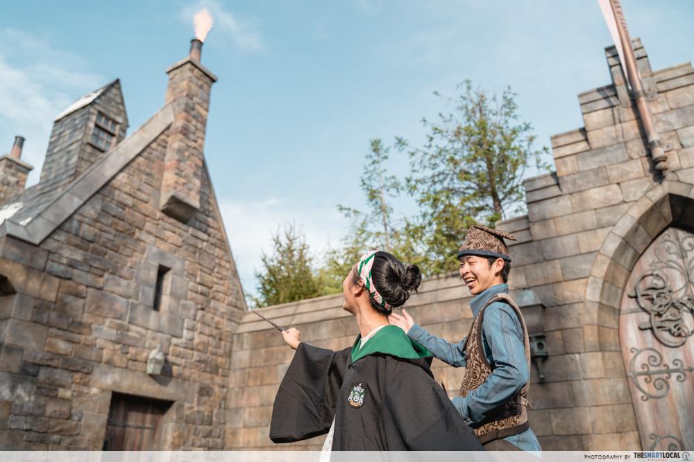 universal studios japan 2019 harry potter wand lesson