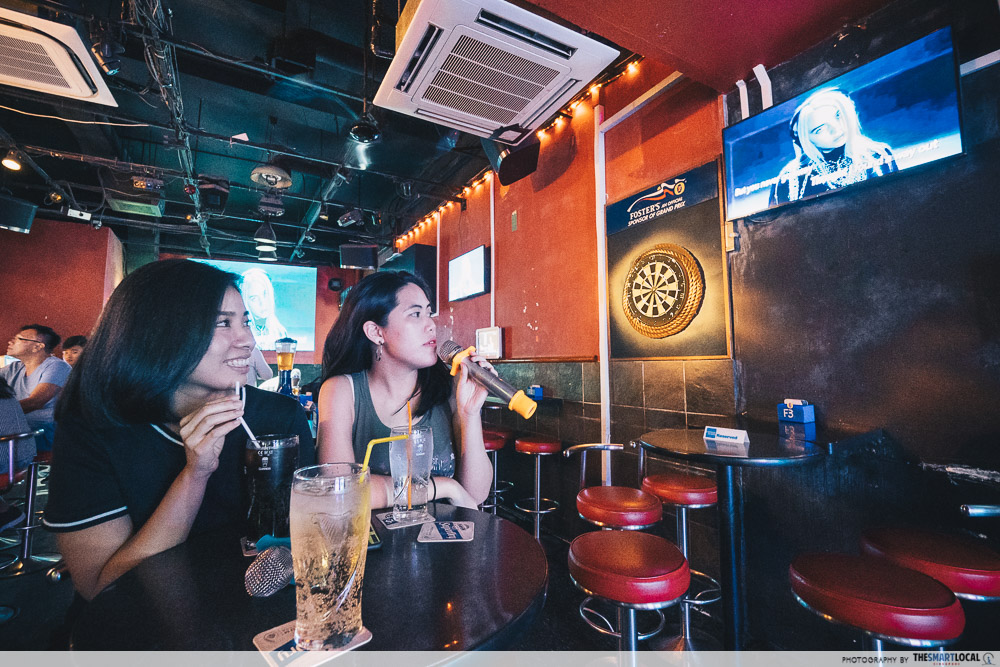 Karaoke North Singapore KTV Oldies Lounge Sembawang Drinks