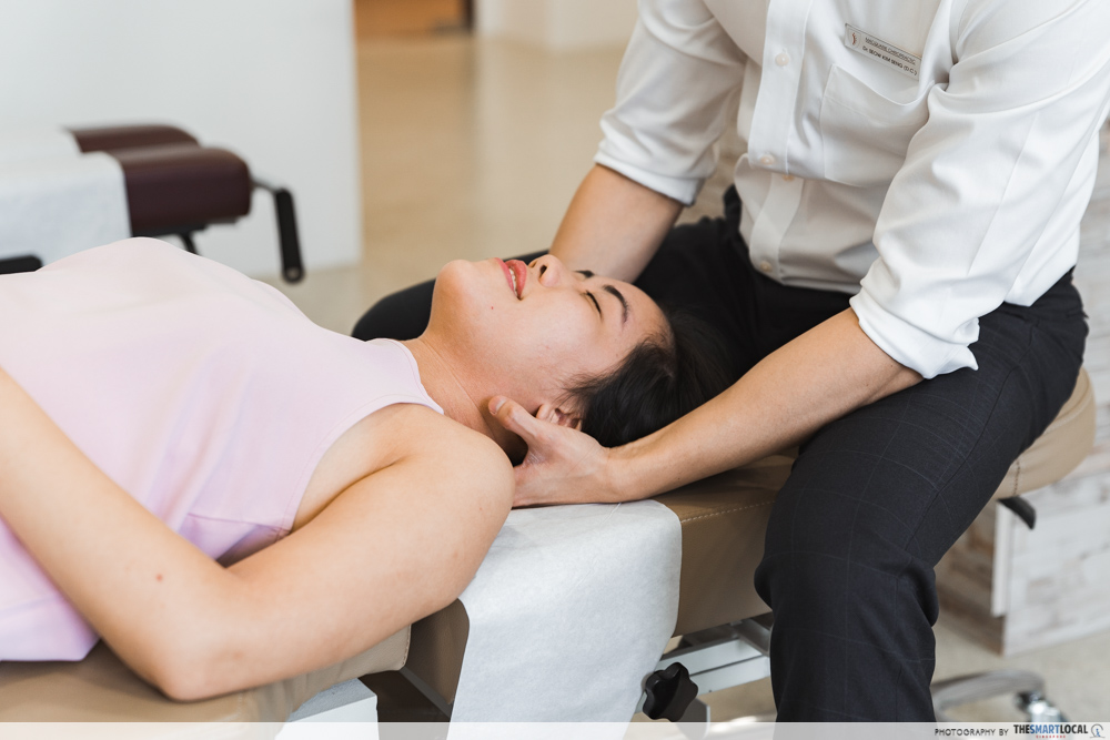 Macquarie Chiropractic Clinic Singapore Spinal Adjustment Neck Crack