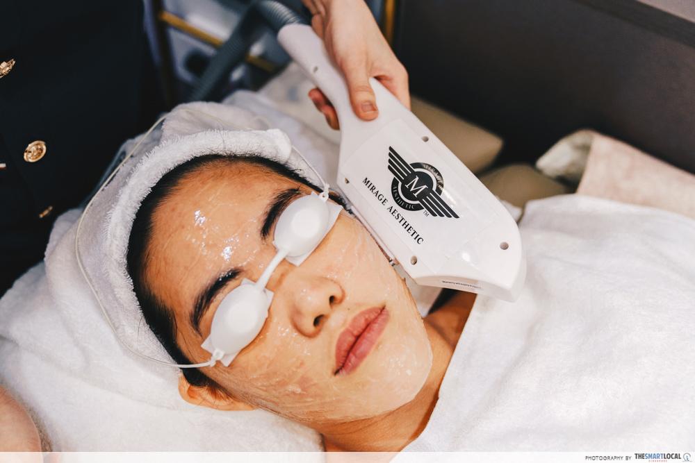 Mirage Aesthetic New Scotts Square Premium Glow Treatment Super Hair Removal Light Heat Facial Machine