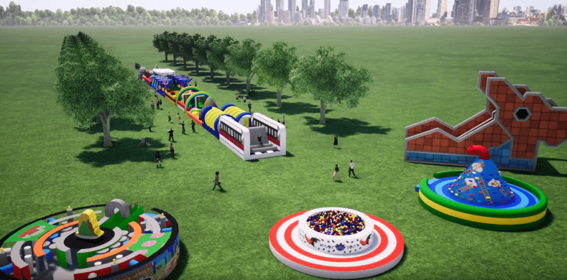 YOUTHx Festival 2019 Singapore Youth Get Active Inflatable Obstacle Course