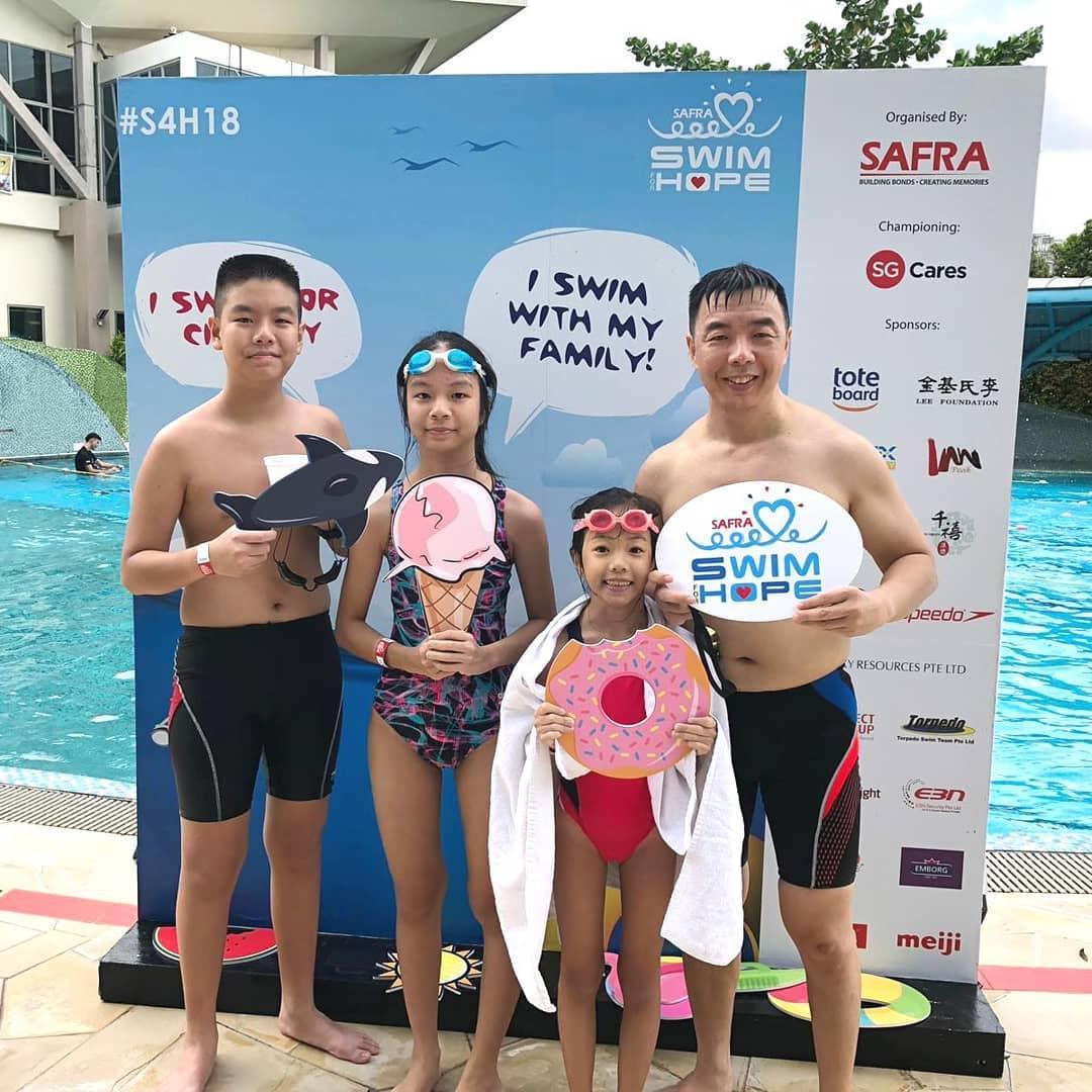 SAFRA Swim For Hope 2019 Donations Charity Families