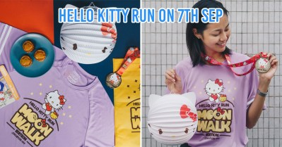 Hello Kitty Run 2019 - collage of items in goodie bag
