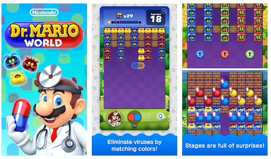 New Mobile Games - screenshots of Dr. Mario World gameplay