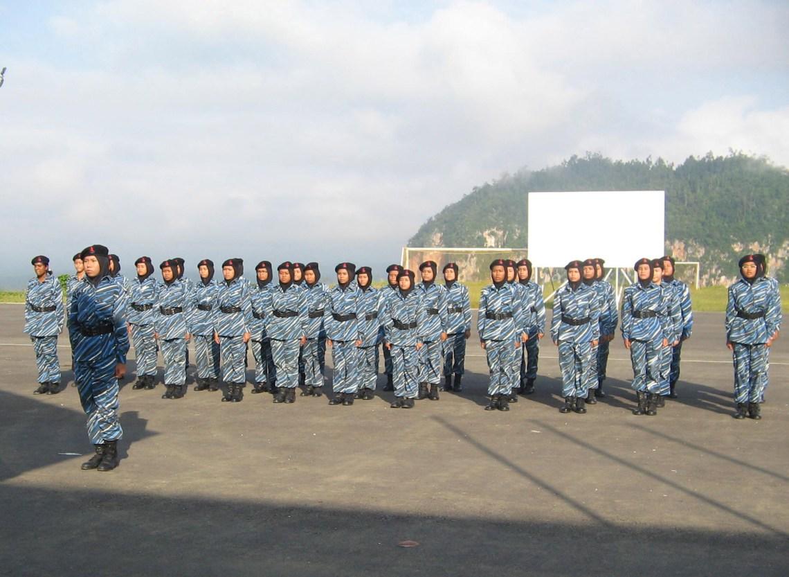 All-girls marching platoon Malaysian NS