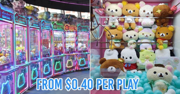 8 New Claw Machine Arcades In Singapore That Opened In 2019 For You To Catch Plushies At