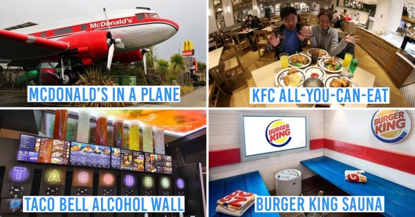 9 Insane Fast Food Restaurants Around The World All Macs/KFC/BK Addicts Must Visit