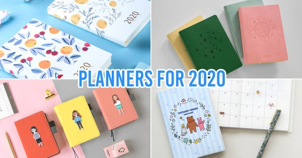 10 Aesthetically-Pleasing 2020 Taobao Planners From $2.50 To Get You Organised In The New Year