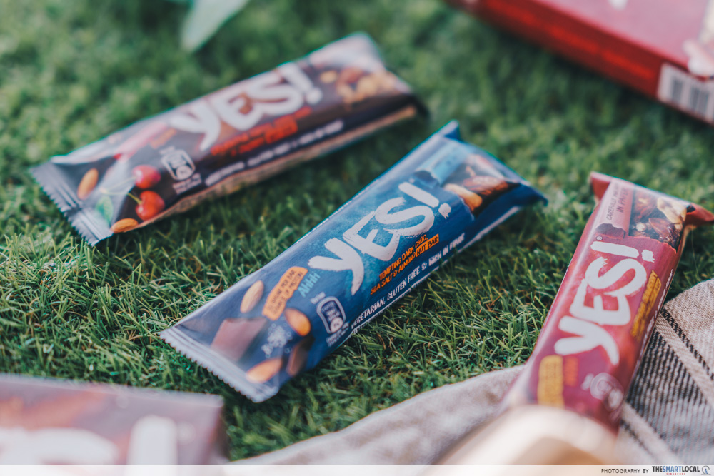 nestle yes bar - flatlay of different bars