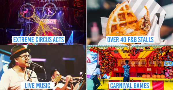 Marina Bay Turns Into A Huge Carnival With Food Street, European Circus & Uncle Ringo Rides This Year-End