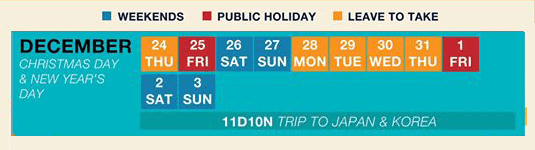 long weekend guide 2020 - christmas day and new year's day