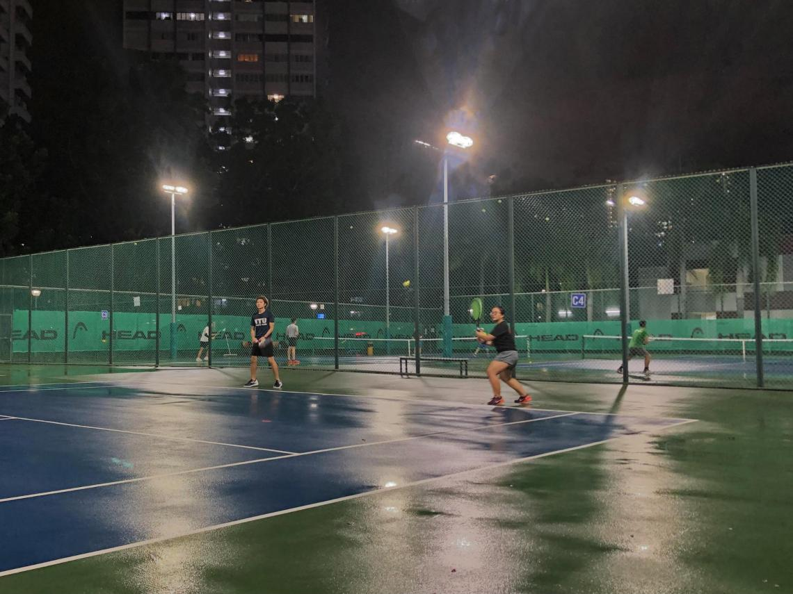 HPB exercise playing tennis