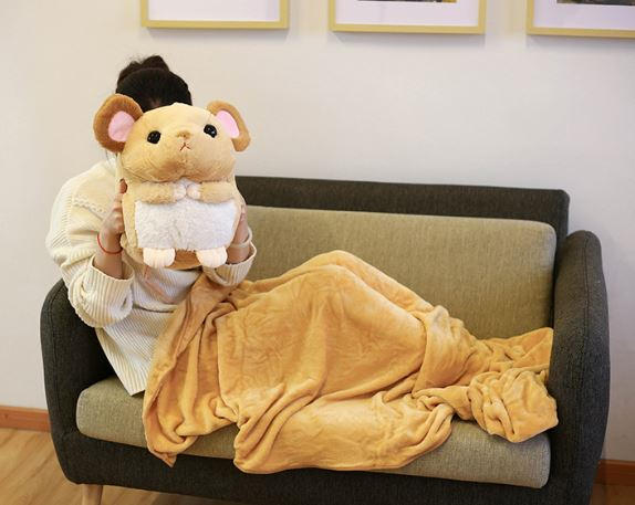 Mouse blanket plushie taobao