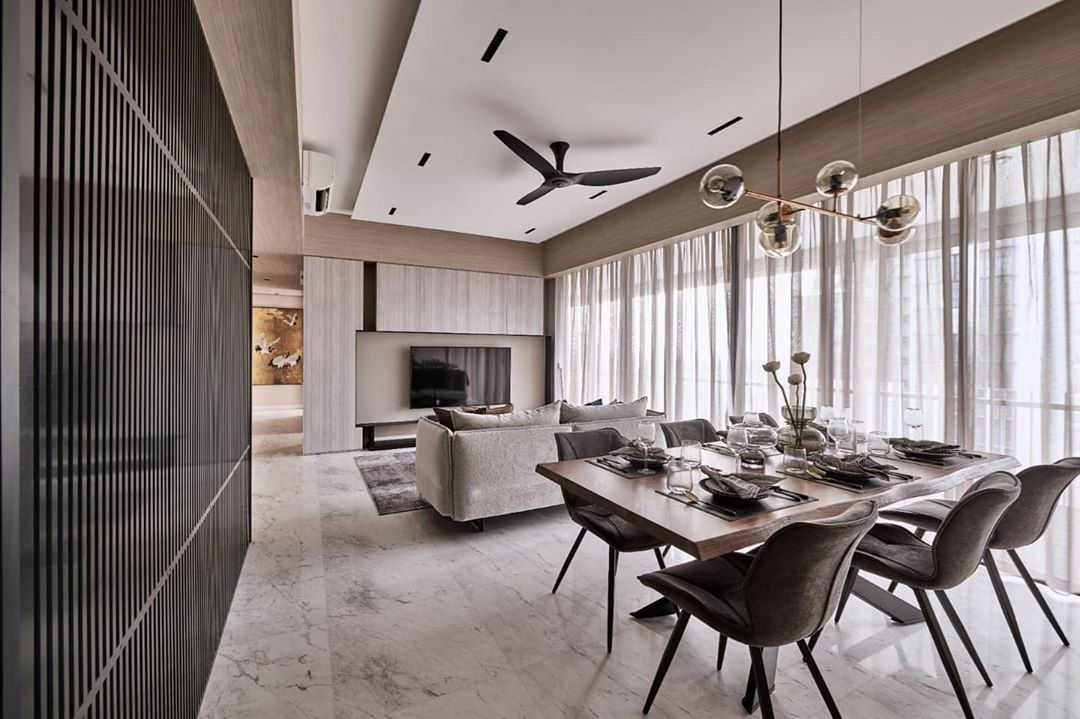Porcelain flooring is a good alternative to expensive marble when making HDB renovation decisions