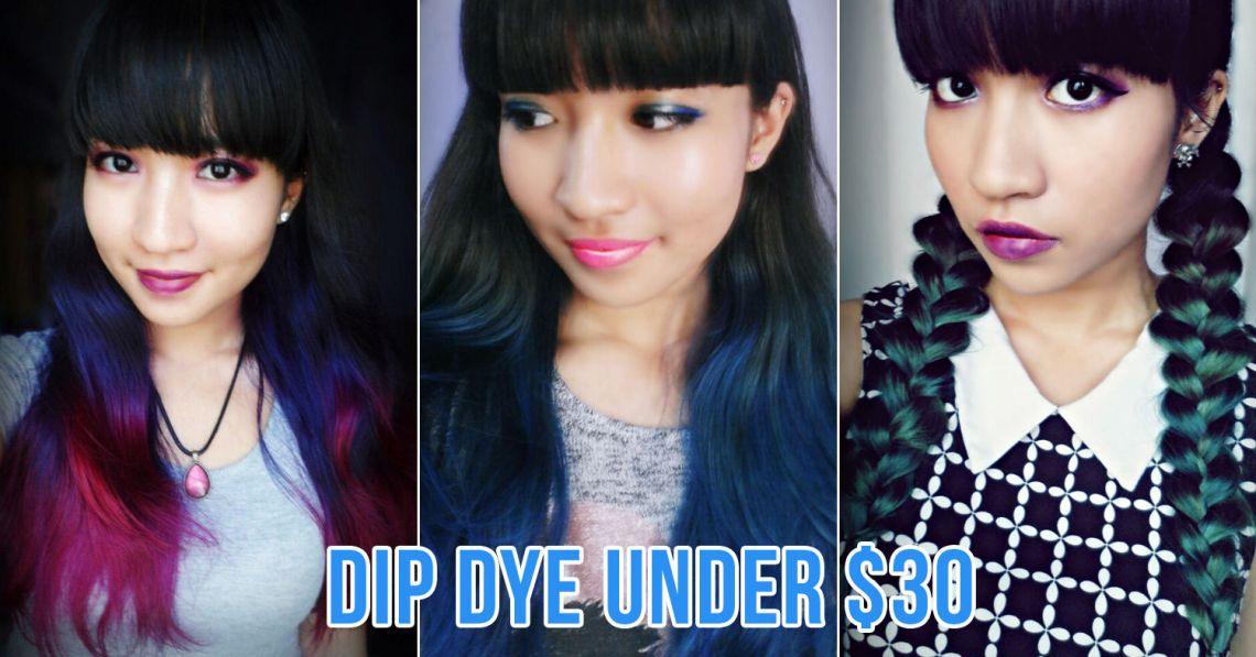 DIY bleach and dye hair