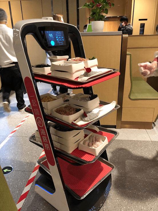 Social Distancing Haidilao Robots