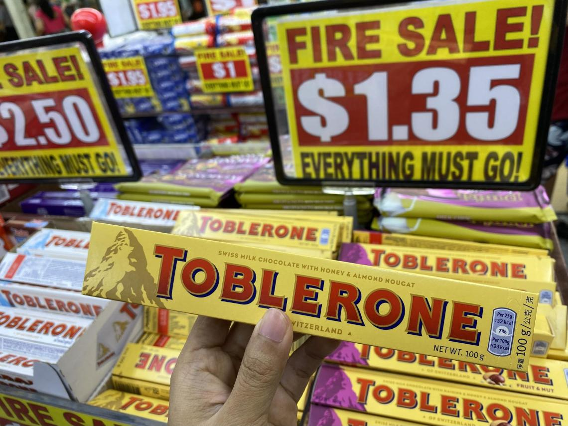 Toblerone at the Value Dollar store in Singapore.