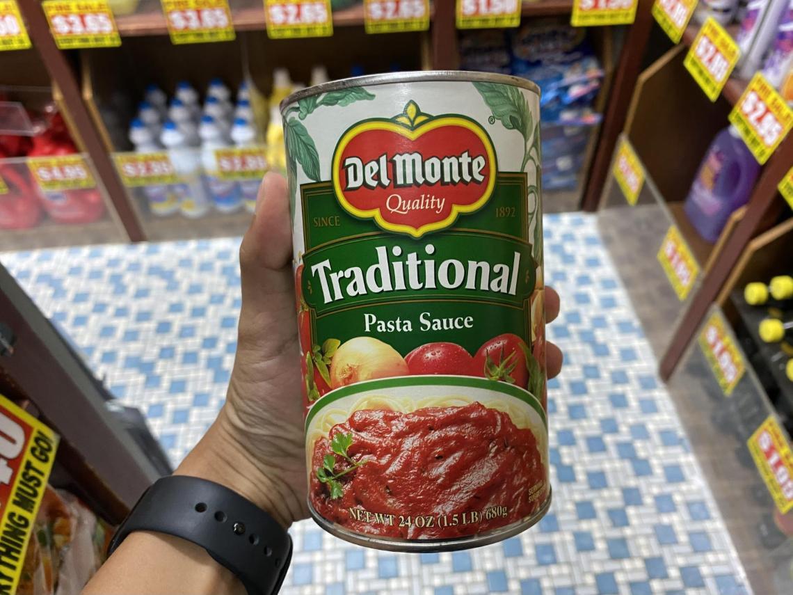 Del Monte pasta sauce at the value dollar store in Singapore