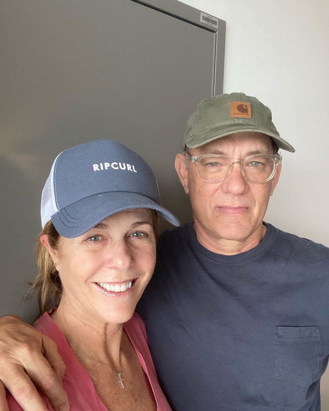 Tom Hanks and his wife