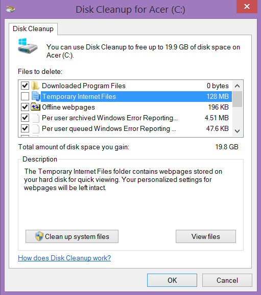 Disk Cleanup on Windows