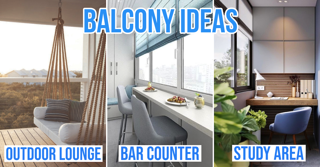 8 Small Balcony Ideas To Transform It From Laundry Yard To A Useful, Stylish Space