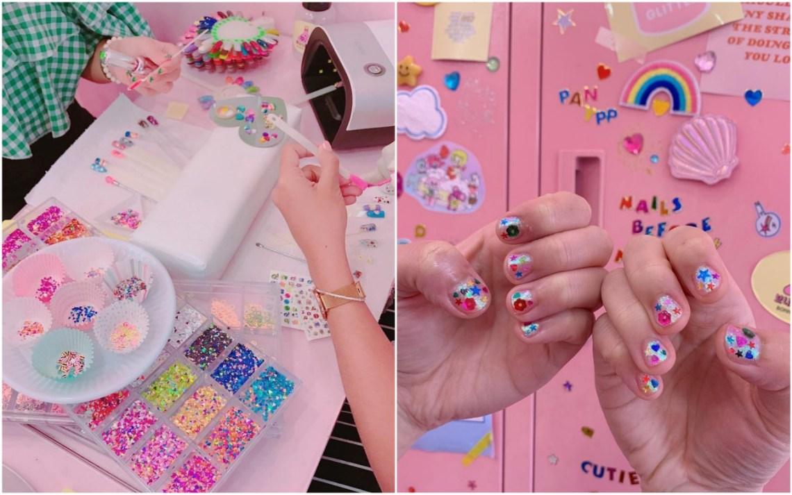 bonnie studio cintage school pink salon shop cafe manicure nails