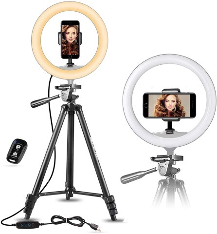 UBeesize 10-inch Selfie Ring Light with Tripod
