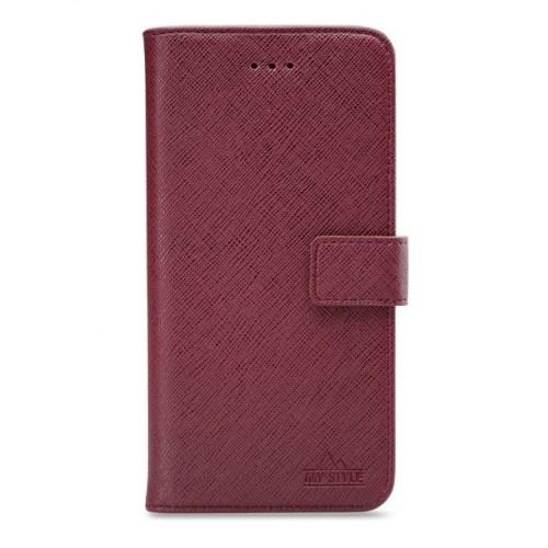 My Style Flex Wallet for Samsung Galaxy A41 Bordeaux