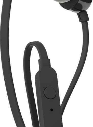 JBL T110 in-ear headset - zwart - 3,5mm - met microfoon