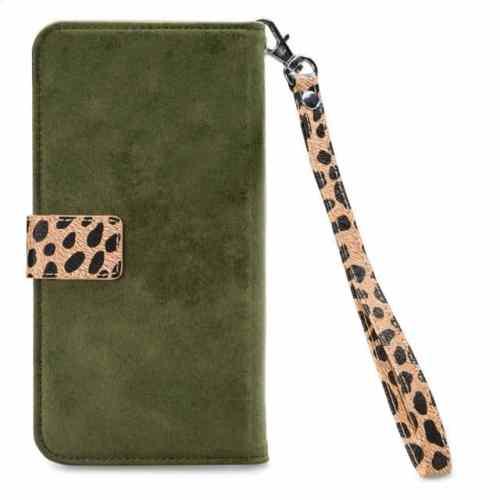 Mobilize 2in1 Magnet Zipper Case Apple iPhone 12 Mini Olive/Leopard