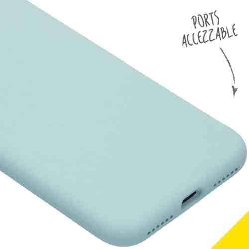 ACCEZZ LIQUID SILICONE BACKCOVER VOOR DE IPHONE SE (2020) / 8 / 7 - SKY BLUE