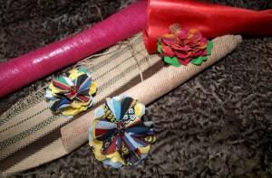Flores de tela de inspiración mexicana