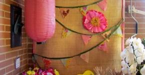 Hojas de maíz para fiesta hawaiana