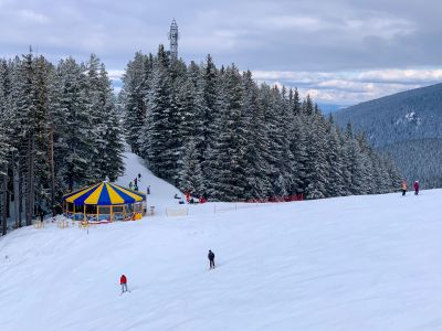Blue run in Bansko