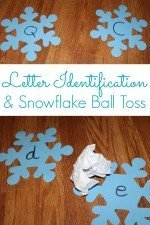 Letter Identification and Snowflake Ball Toss