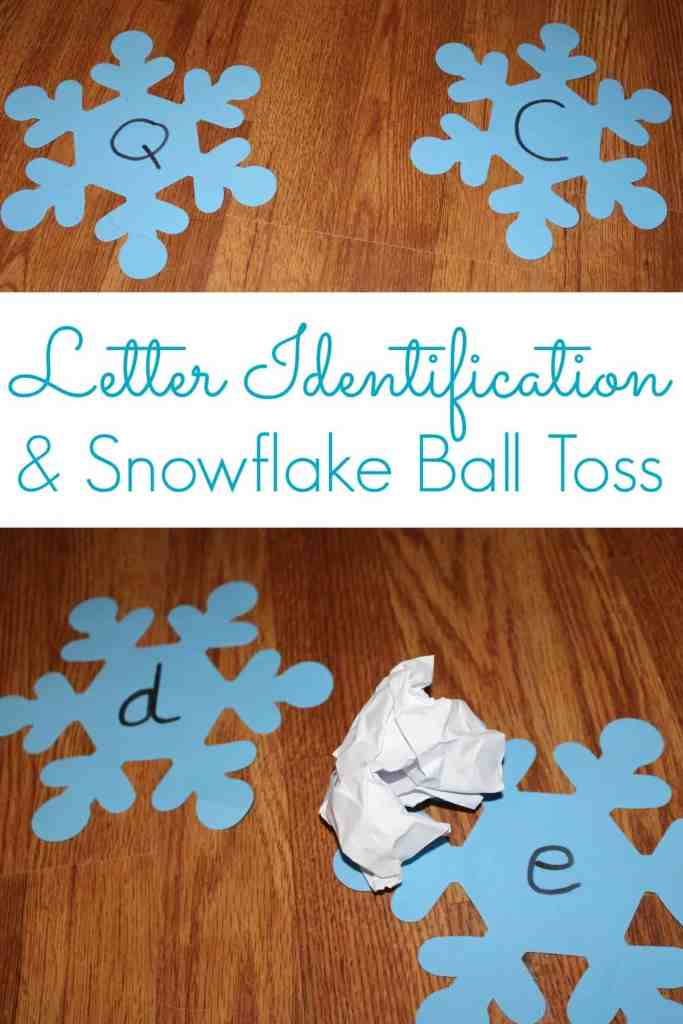 Letter Identification and Snowflake Ball Toss 1