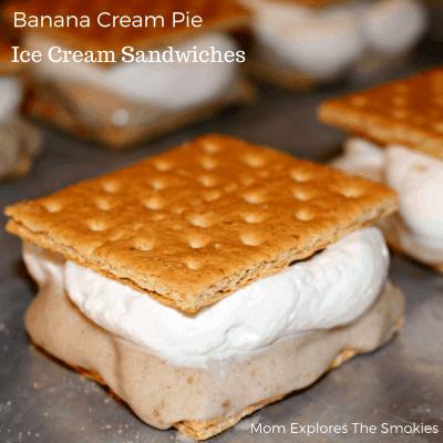 Banana Cream Pie Ice Cream Sandwiches