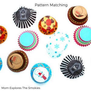 Cupcake Liner Pattern Matching and Attribute Sort, Mom Explores The Smokies