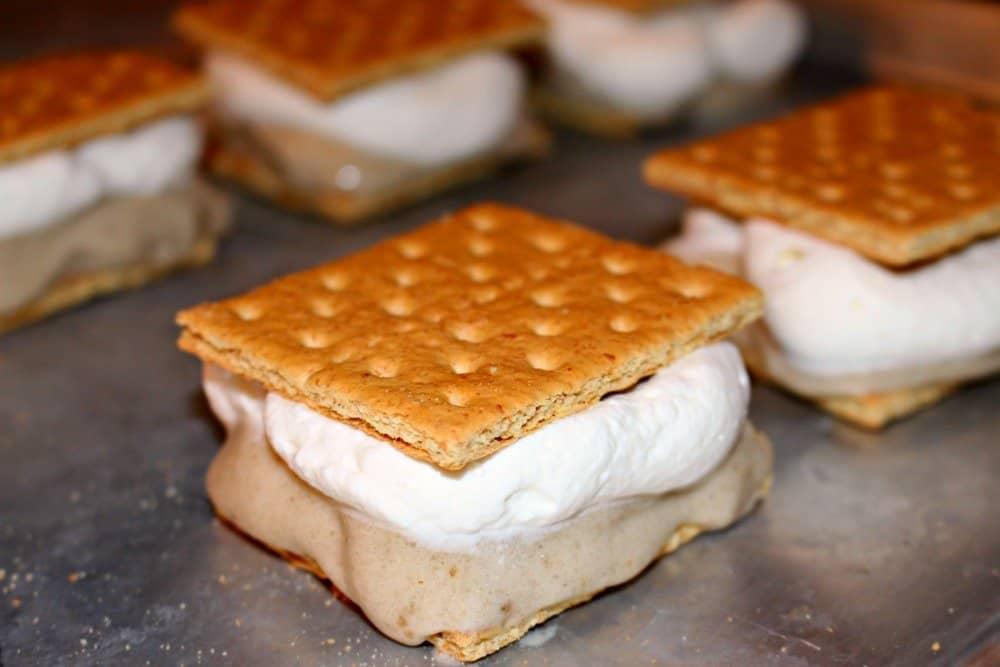 banana cream pie ice cream sandwich, mom explores the smokies