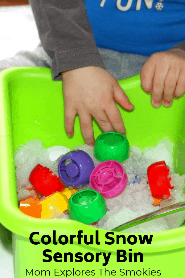 Color Identification, Snow Sensory Bin