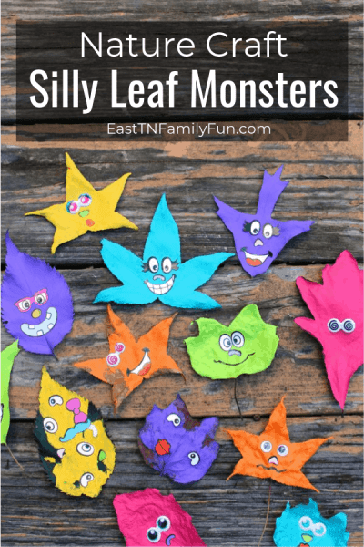 Silly Leaf Monsters Family Nature Craft