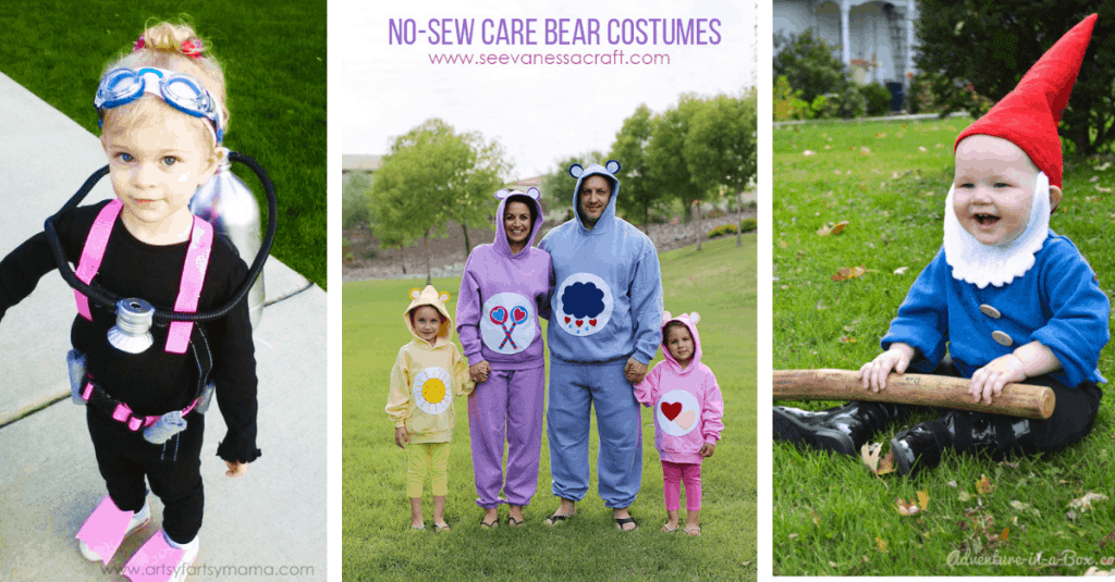 DIY Scuba Diver, Care Bear, and Gnome Halloween Costume