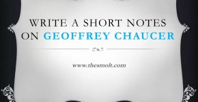 Short note on Geoffrey Chaucer