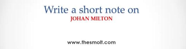 Short note on John Milton