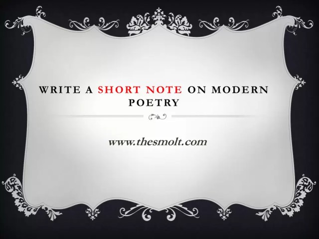 Modern poetry in English literature