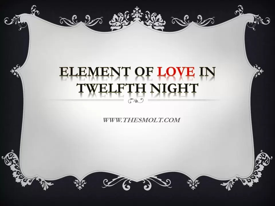 love theme in twelfth night