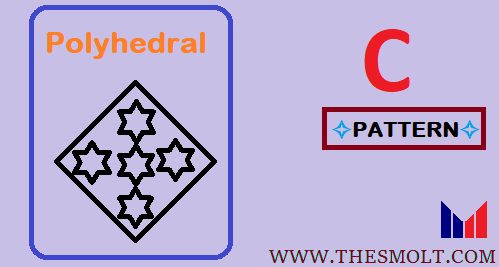 Polyhedral Dice and Pyramid pattern Program in C