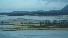 Near Stokmarknes, sailing through the channel first dredged in 1922