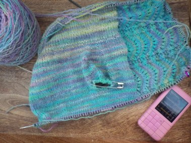 Knitting and an audio book